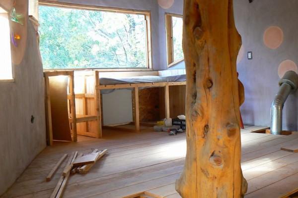 Mueble-cama en construcción en el altillo de Magnolia (julio 2014)