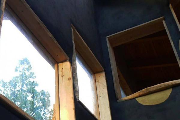 Ventana interna y externa oficina, refugio/casa (julio 2014)